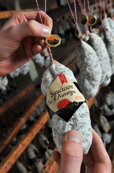 Saucisson sec d'Auvergne - Charcuterie Laborie
