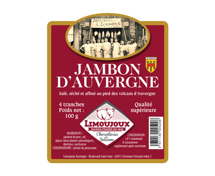 Etiquette - Limoujoux Auvergne Viandes et Salaisons