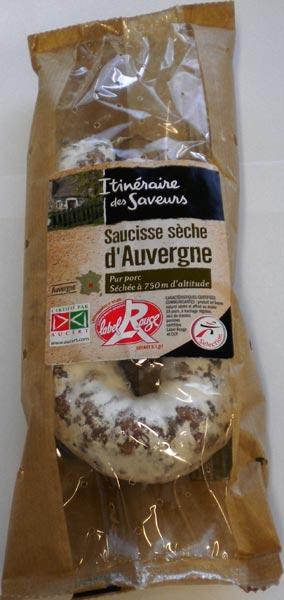 Saucisse sèche d'Auvergne Label Rouge - Salaisons du Lignon